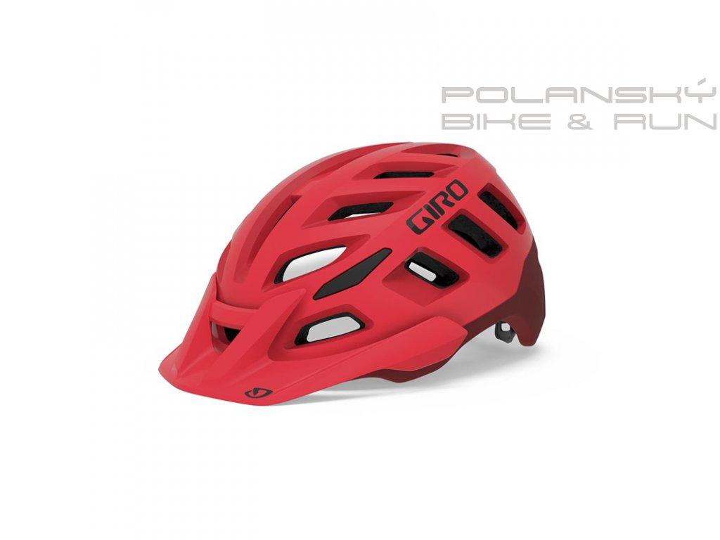 391798 cyklisticka helma giro radix matna cervena 78529d