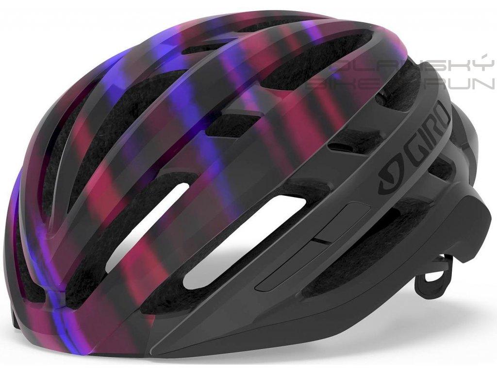 Cyklistická přilba GIRO Agilis W mat black/electric purple