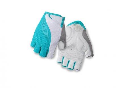 Cyklistické rukavice krátkoprsté GIRO TESSA bílo/zelené