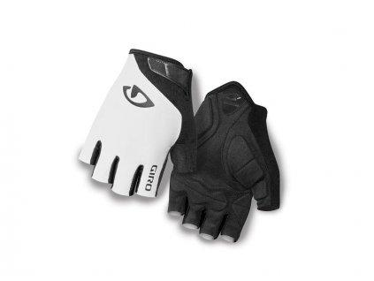 Cyklistické rukavice krátkoprsté GIRO JAG bílé