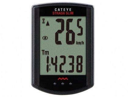 Cyklocomputer CATEYE Strada Wireless Slim Road černá