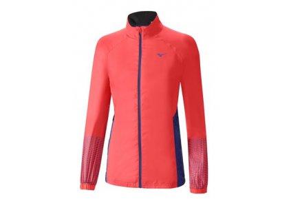 Běžecká bunda MIZUNO Breath Therma Jacket fiery coral/dazz blue