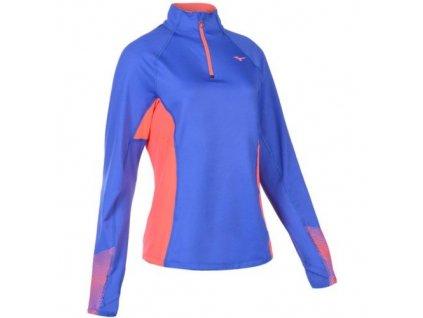 mizuno maglia running woman warmalite phenix top j2gc6704 26 dazzling blue fiery coral z