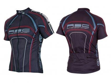 Cyklistický dres Author AS- 110 (černá)