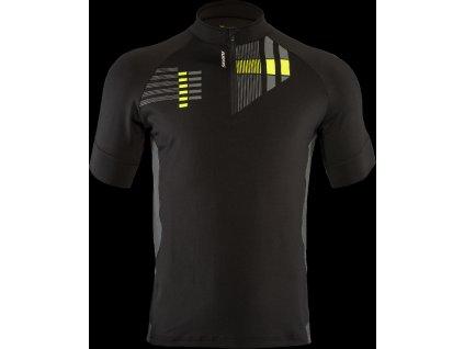 50360821906 Pánský cyklistický volný dres SILVINI Croce black-yellow