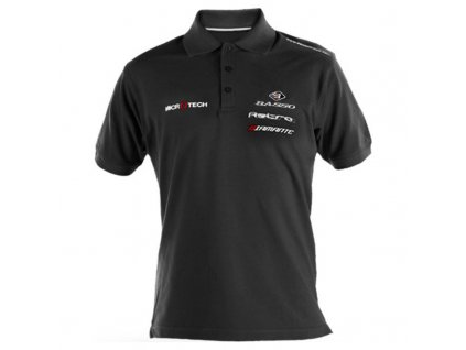 basso polo shirt cotton black 135
