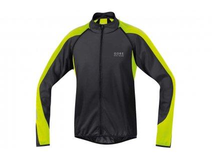 gore bike wear phantom 20 windstopper soft shell jacket black neon yellow EV174519 4600 3