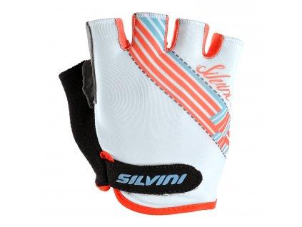 Cyklistické rukavice krátkoprsté SILVINI CARONIE white