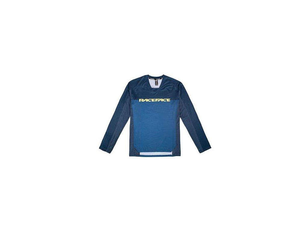 Cyklistický dres RACE FACE dl.rukáv DIFFUSE navy