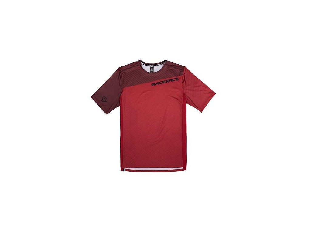 Cyklistický dres RACE FACE kr.rukáv INDY tm.červená