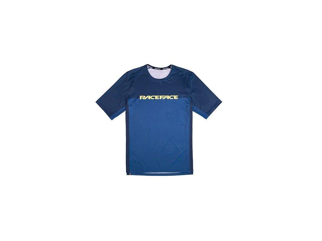 Cyklistický dres RACE FACE kr.rukáv INDY navy