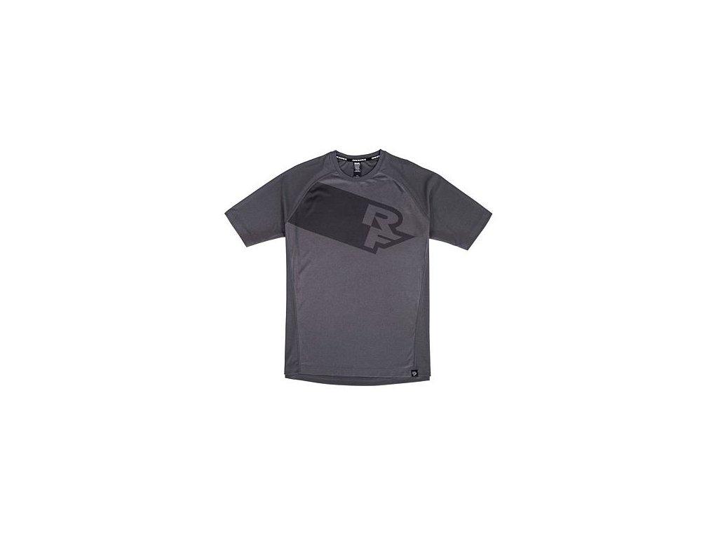 Cyklistický dres RACE FACE kr.rukáv TRIGGER černá