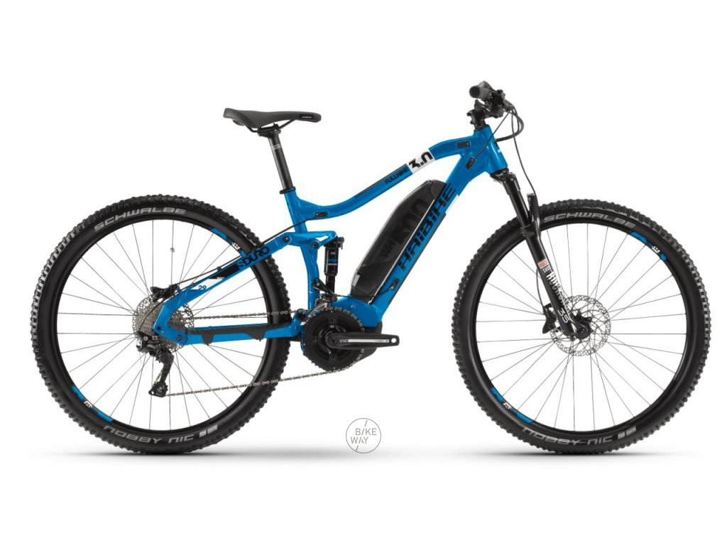 Celoodpružené elektrokolo Haibike SDURO FullNine 3.0 2020 Yamaha 500 Wh modré