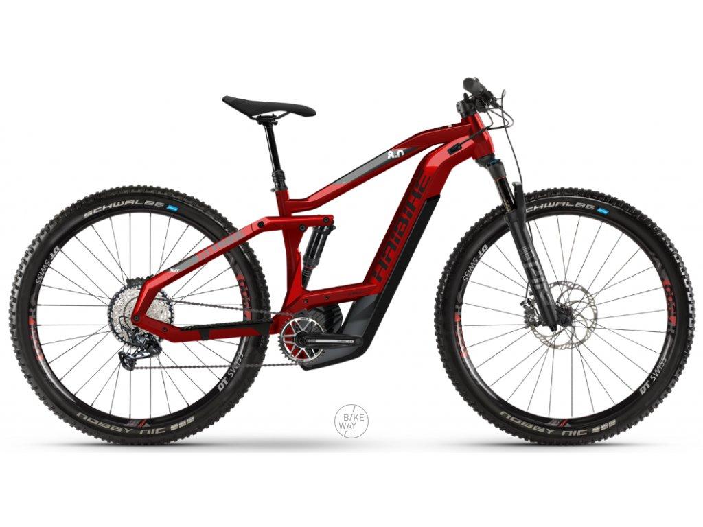 Celoodpružené elektrokolo Haibike SDURO FullNine 8.0 2020 Bosch i625 Wh červené černé