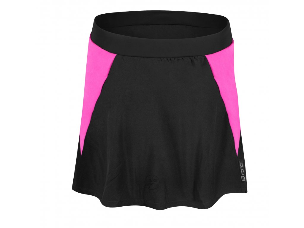 Dámská cyklo sukně FORCE DAISY s vložkou černo růžová