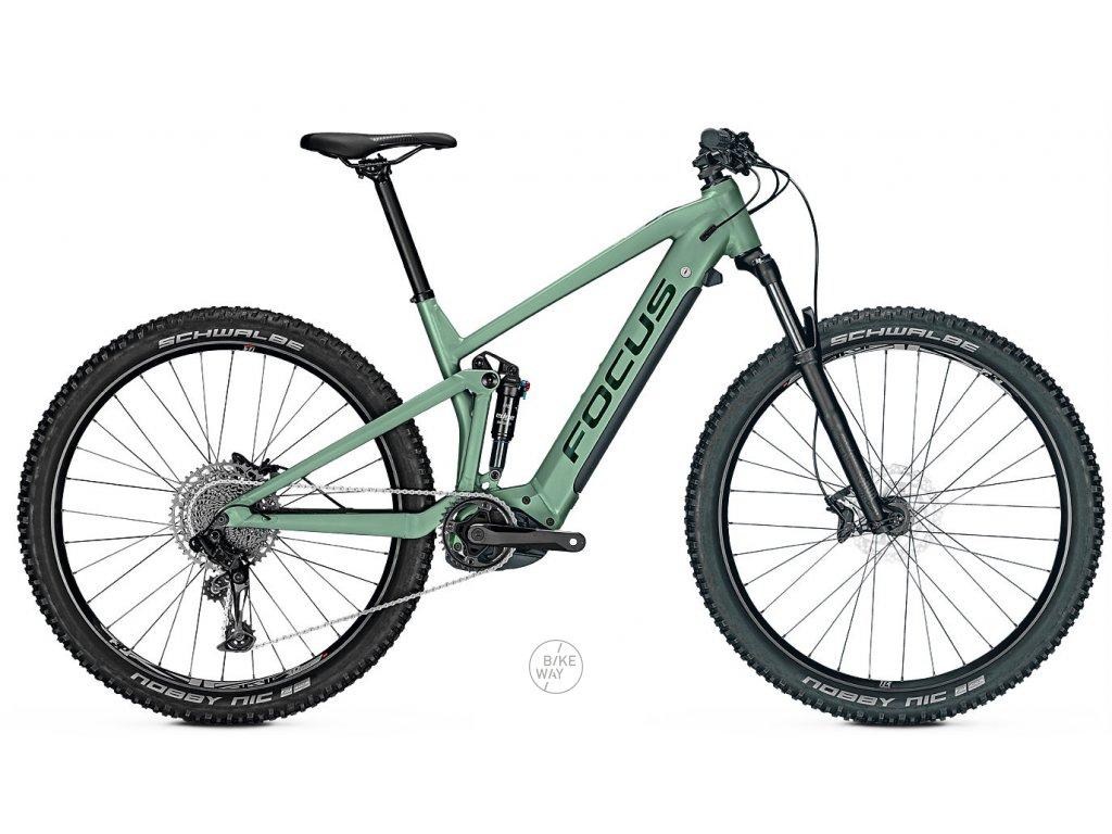 Celoodpružené elektrokolo FOCUS THRON2 6.7 2020 zelené Bosch 500 Wh