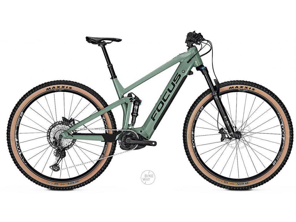 Celoodpruzene horske elektrokolo FOCUS THRON2 6 9 2020 zelene Bosch 625 Wh
