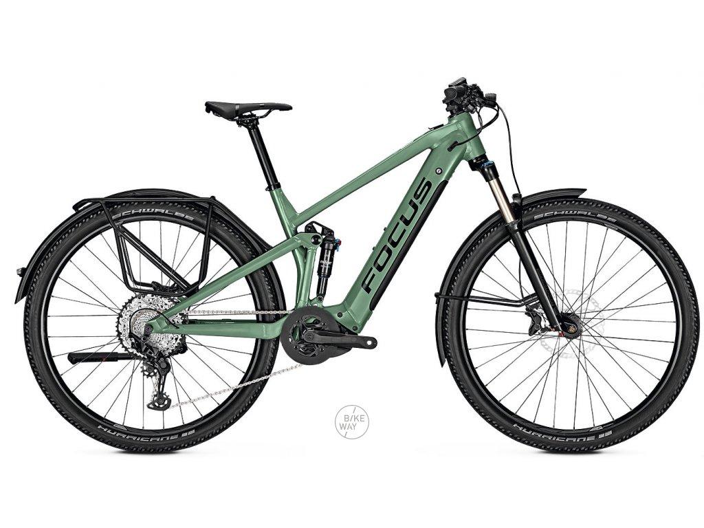 Celoodpruzene horske elektrokolo FOCUS THRON2 6 8 EQP 2020 zelene Bosch 625 Wh