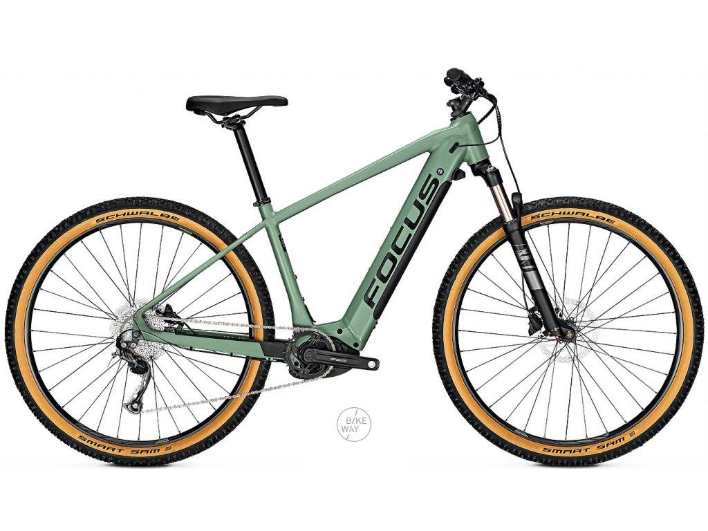 Horske elektrokolo FOCUS JARIFA2 6 7 NINE 2020 zelene Bosch 625 Wh