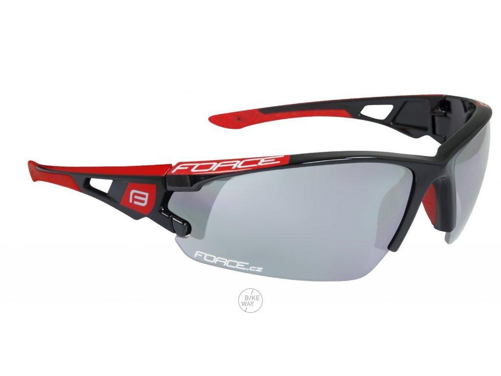 Cyklistické brýle FORCE CALIBRE černo-červené, fotochromatická skla