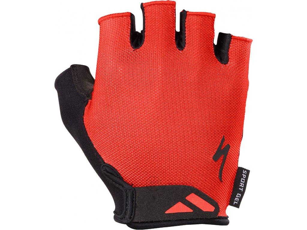 Pánské cyklistické rukavice Specialized Men's Body Geometry Sport Gel červené