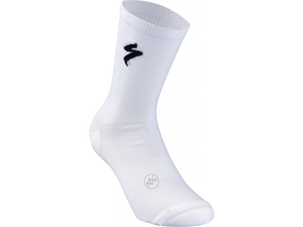 Cyklistické ponožky Specialized SL Sock bílé