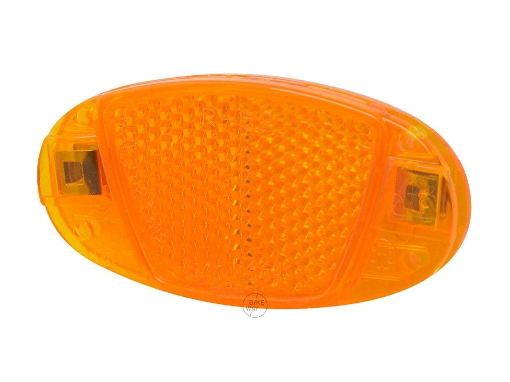 Odrazka do drátů 80 x 40 mm, oranžová