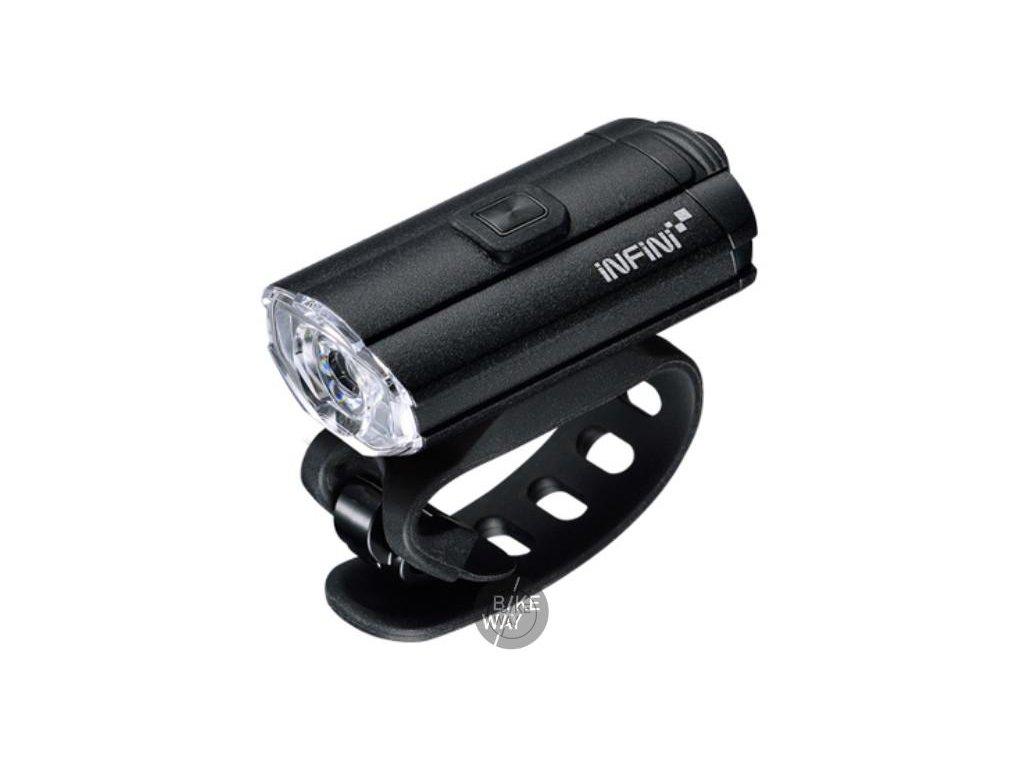 Přední světlo na kolo Infini I-280P Tron 100 černé USB