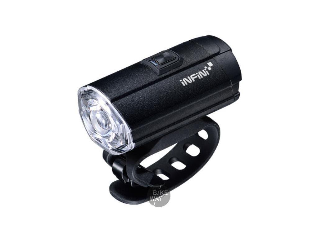 Přední světlo na kolo Infini I-281P Tron 300 černé USB