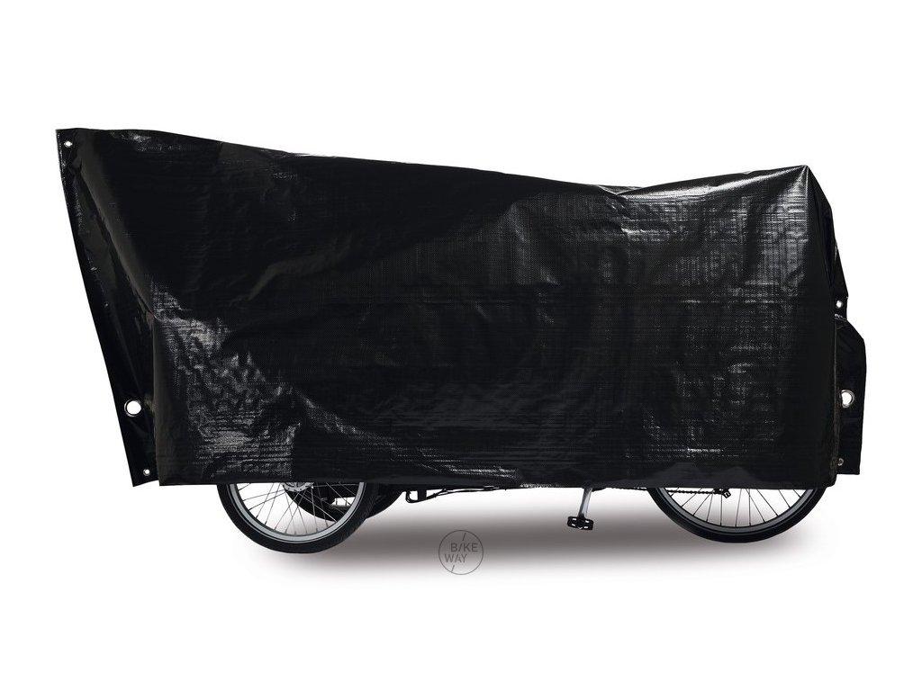 Obal na jízdní kolo VK Cargo Bike 120 x 295cm černá, vč. 2 velkých ok