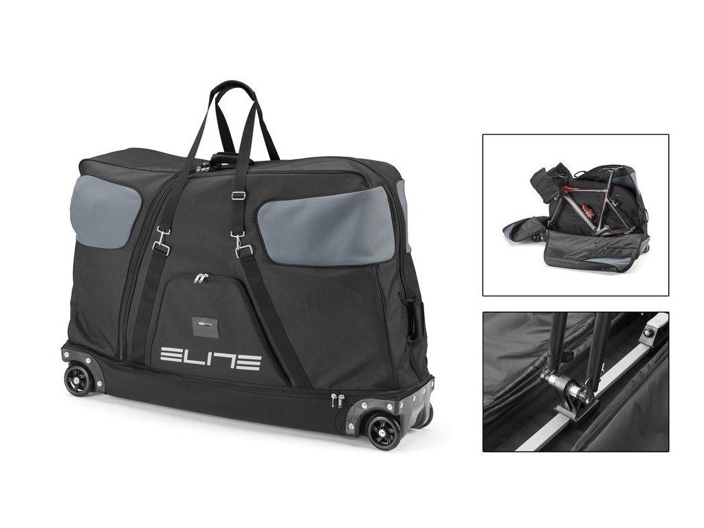 Cyklistická přepravní taška na 1 kolo Elite Borson černá šedá