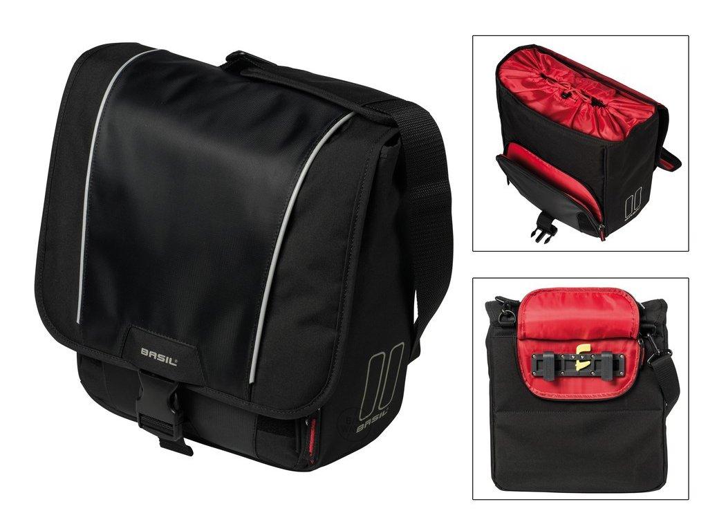 Boční brašna na zadní nosič na kolo Basil Sport Design Comm černá 18l