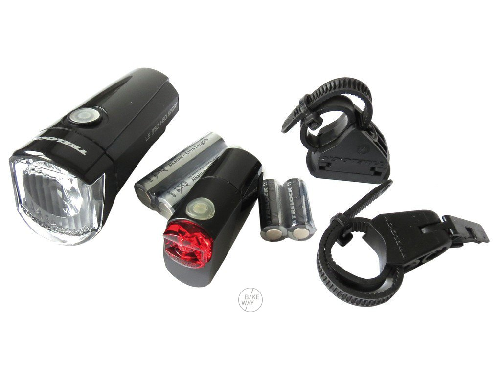Sada světel na kolo Trelock I-Go Sport LS 350 / LS 710 Kombi černá, na baterie