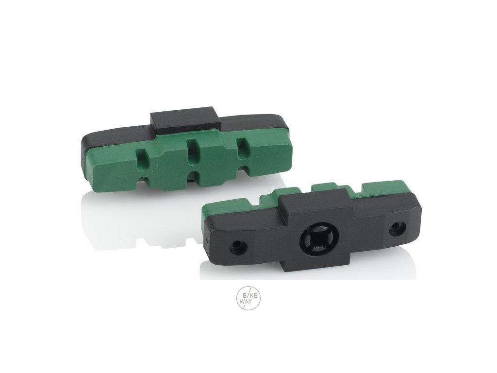 Náhradní brzdové špalky XLC pro Magura BS X42 4 dílná sada, 50mm, zelená