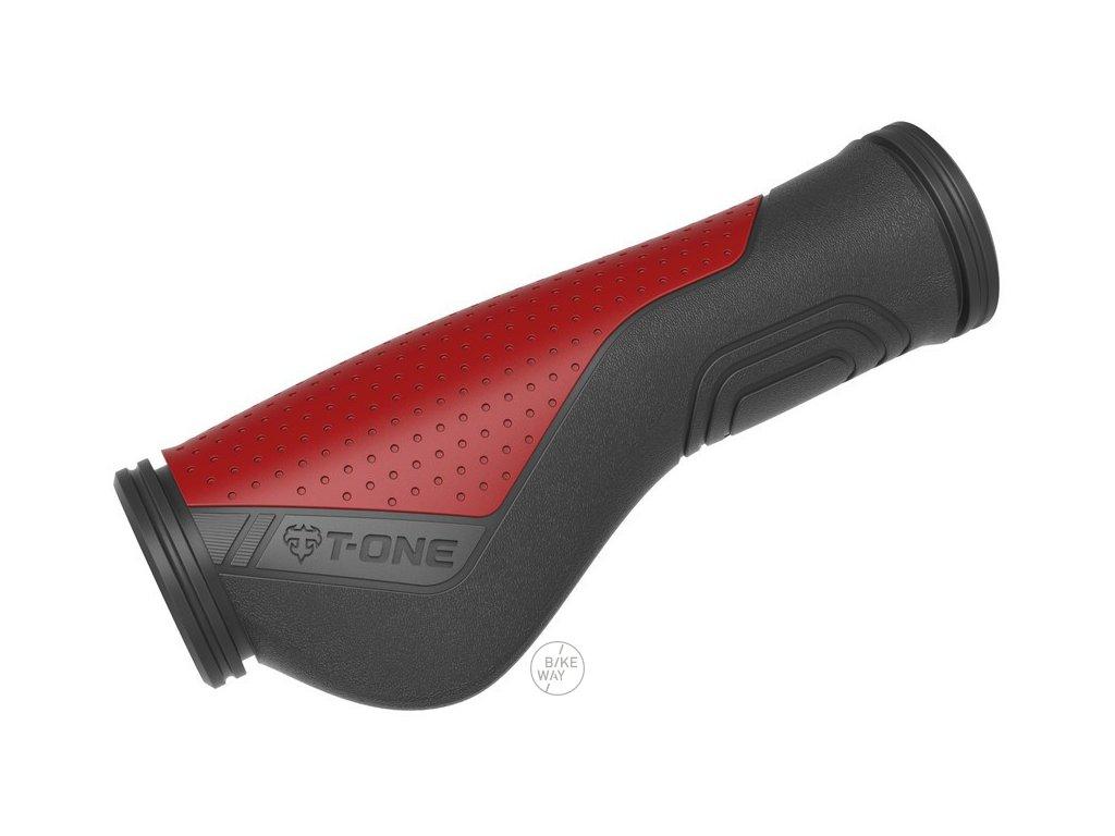 Gripy T One Ripple Ergo černá červená 130mm