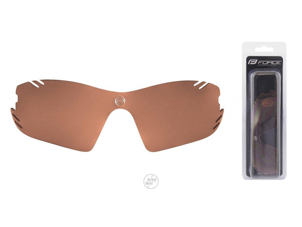 Náhradní sklo pro brýle FORCE RACE PRO hnědé rozjasňovací