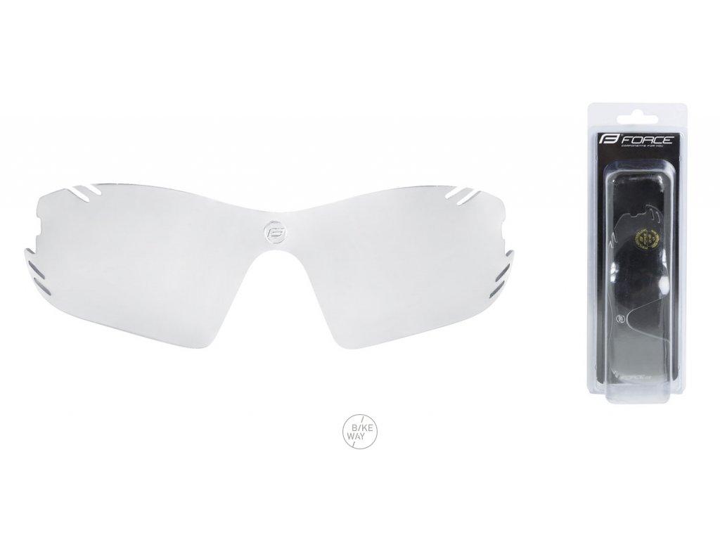 Náhradní sklo pro brýle FORCE RACE PRO čiré