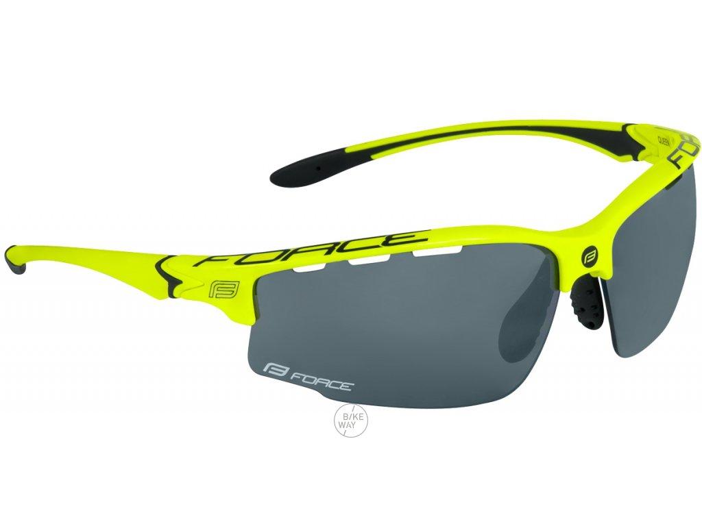 Dámské cyklistické brýle FORCE QUEEN fluo černé