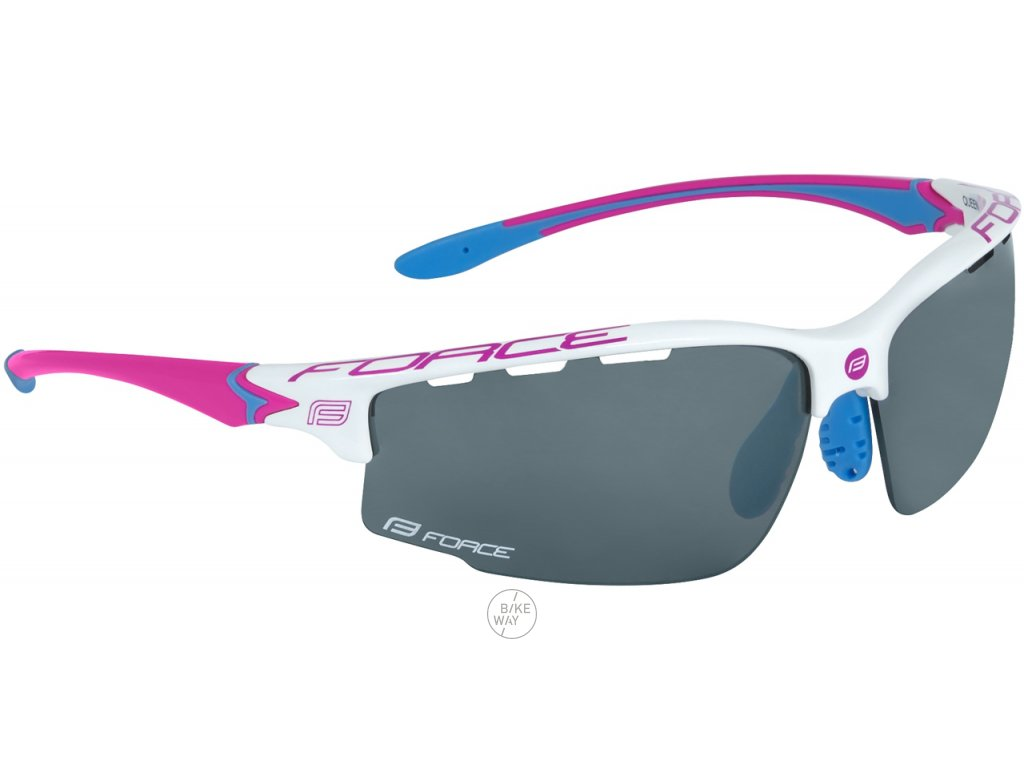 Dámské cyklistické brýle FORCE QUEEN bílo růžové