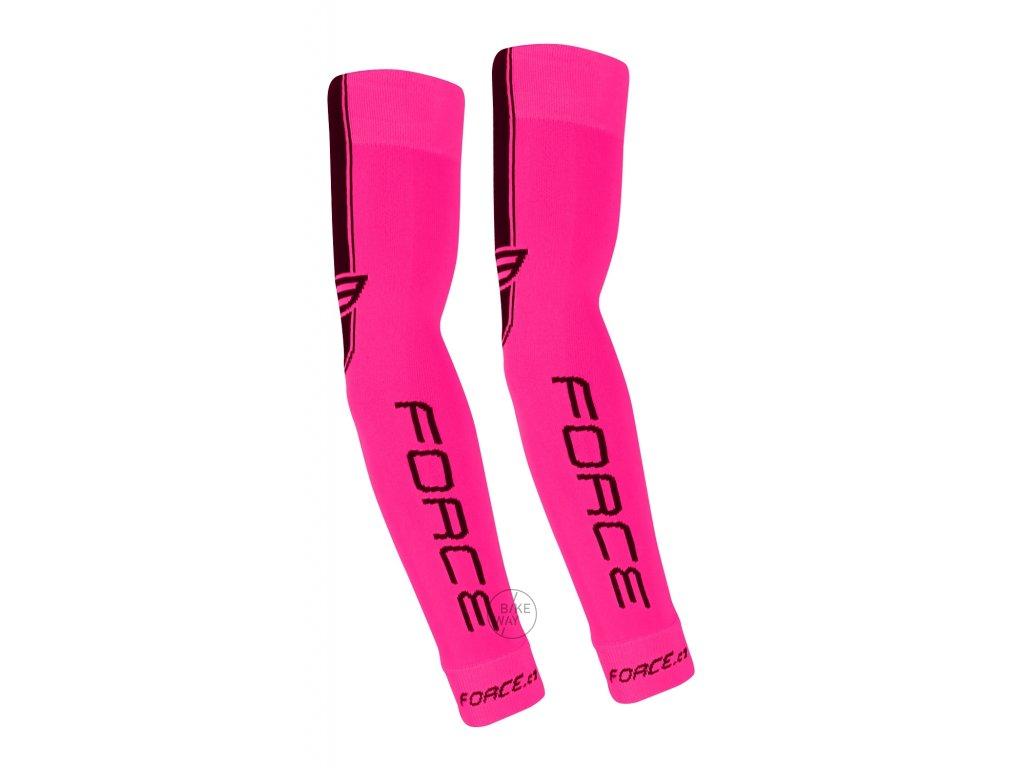 Cyklistické pletené návleky na ruce FORCE růžové S M