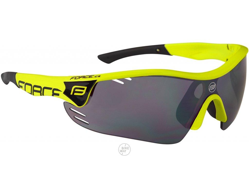 Cyklistické brýle FORCE RACE PRO fluo černá