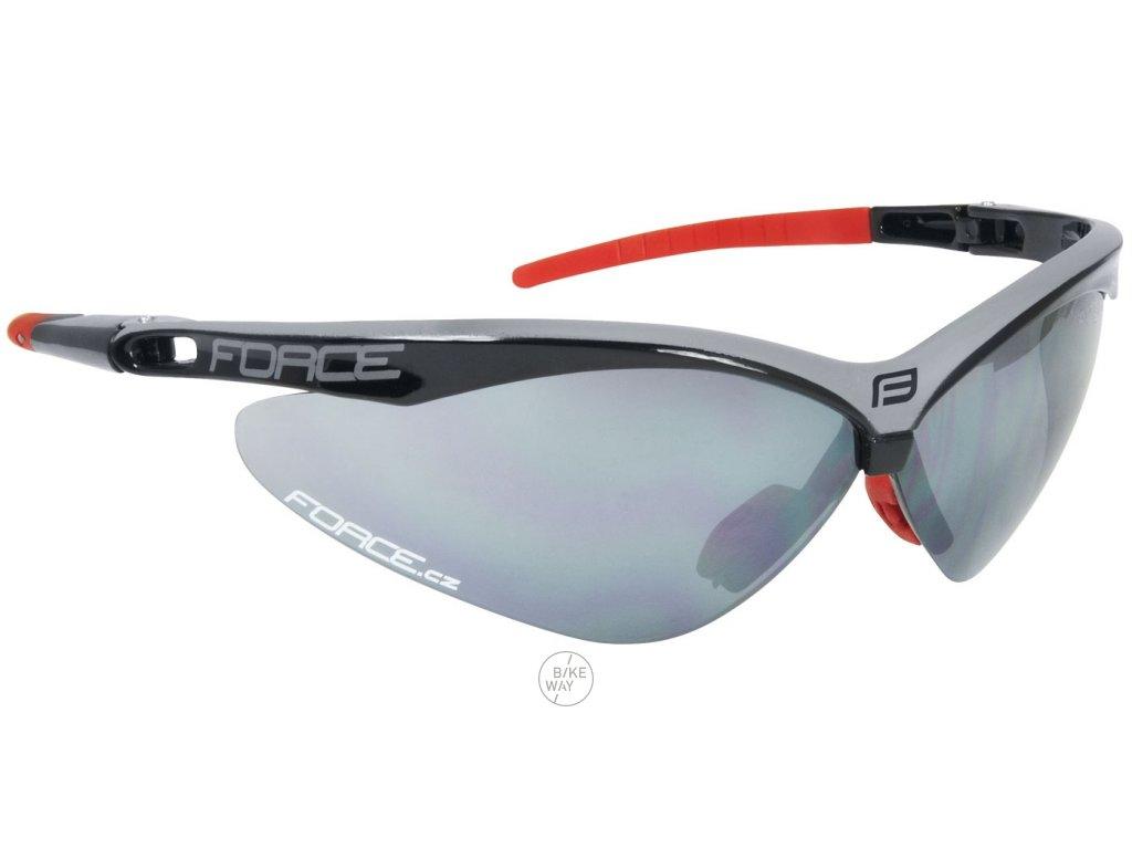 Cyklistické brýle FORCE AIR černo-šedé, černá laser skla
