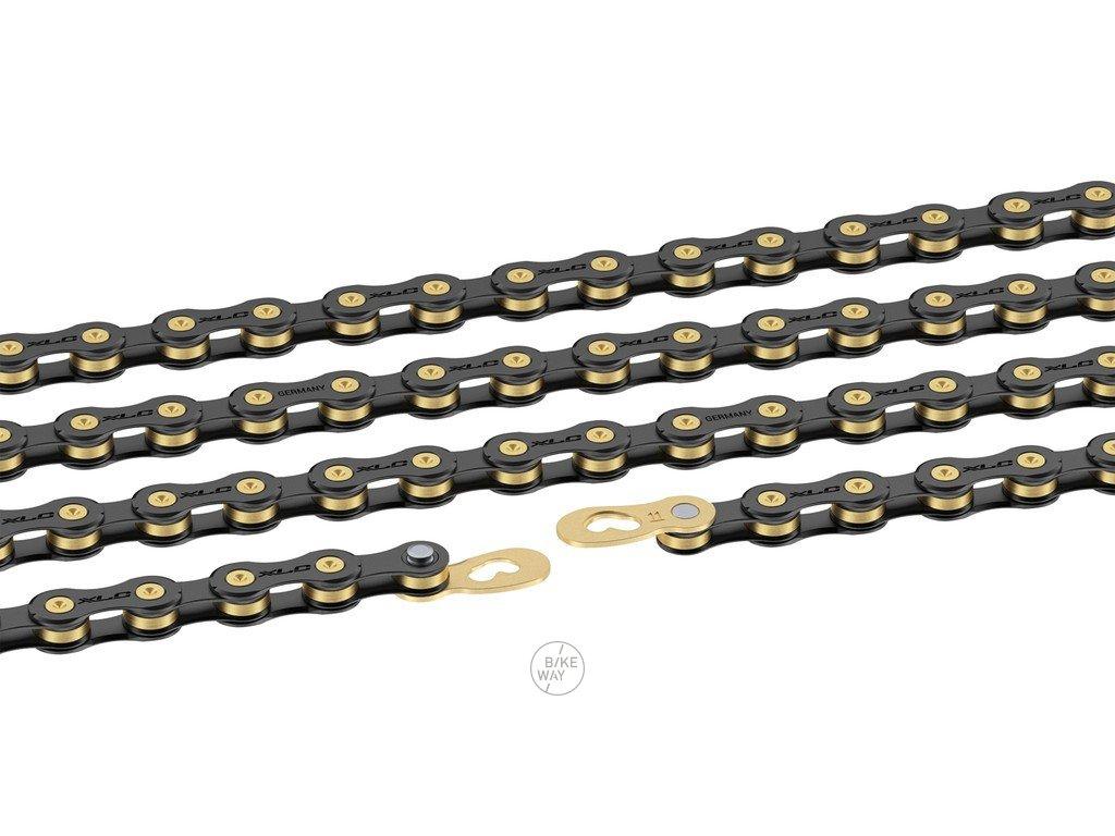 Řetěz XLC CC C03 114 článků 10 st. černá zlatá