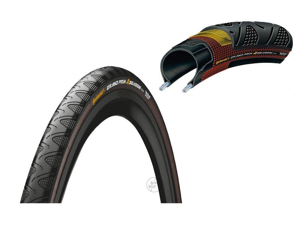 Plášť Continental Grand Prix 4 Season 700x23C,23 622 černá Dura Skin skládací