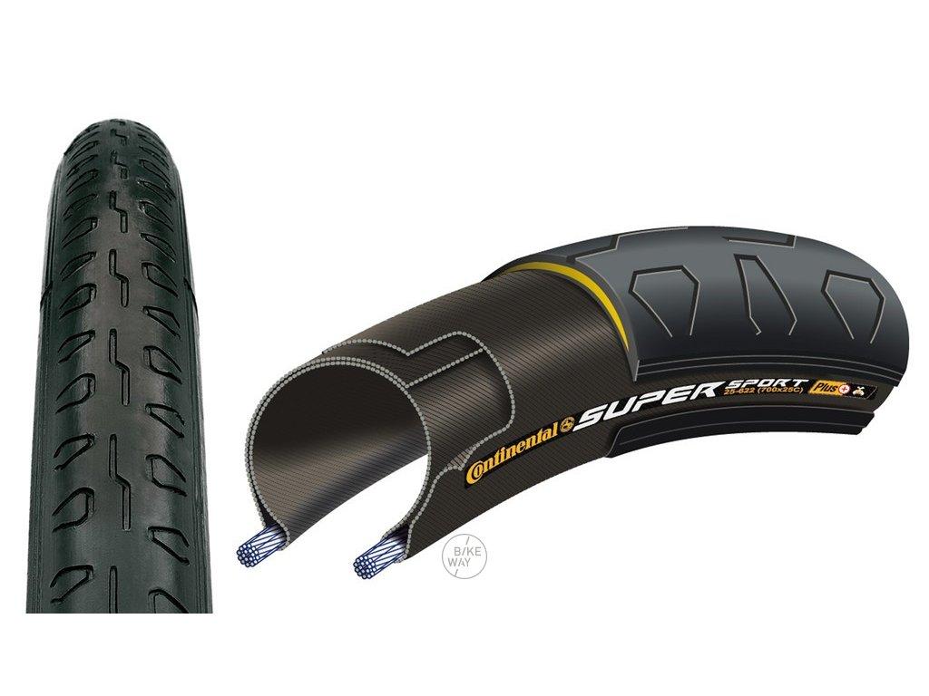 Plášť Continental Super Sport Plus 28 700x28C 28 622 černá drátový
