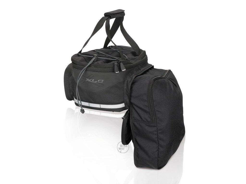 Brašna pro zadní systémové nosiče XLC Carry more BA S64 černá antracitová