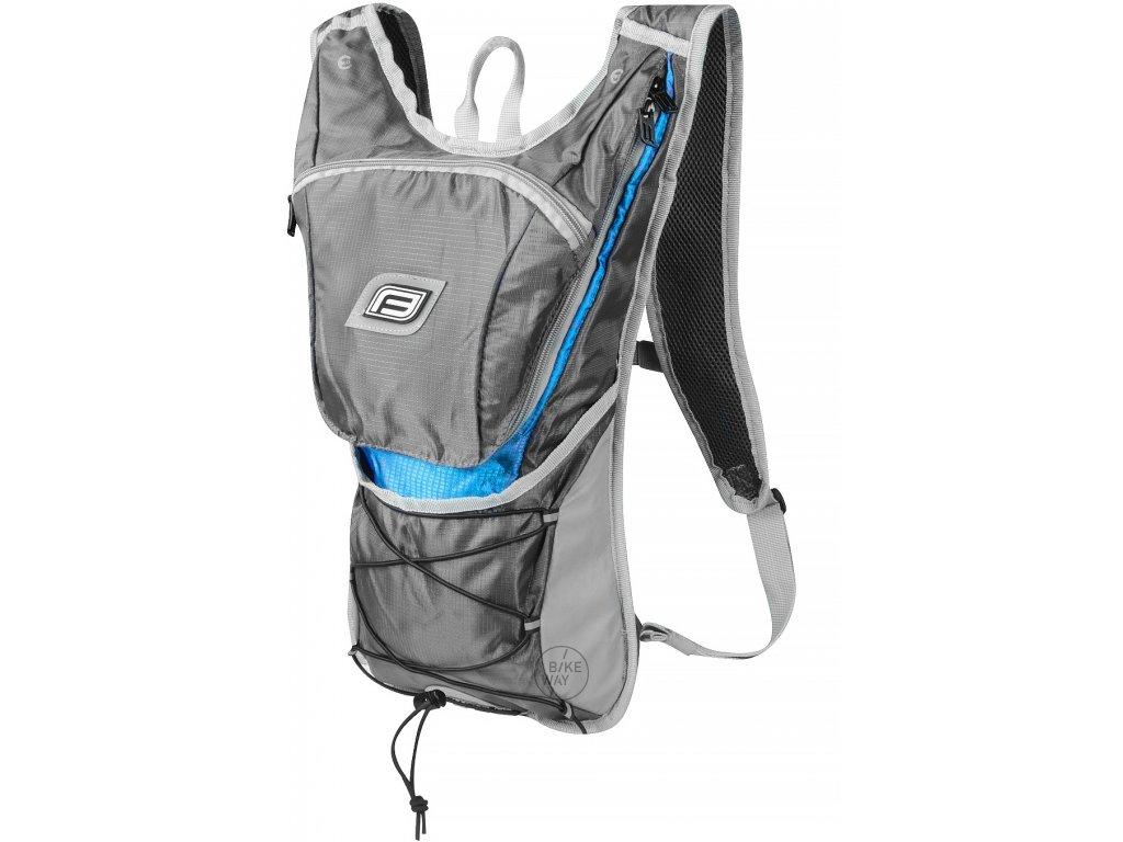Cyklistický batoh FORCE TWIN 14 l šedo modrý