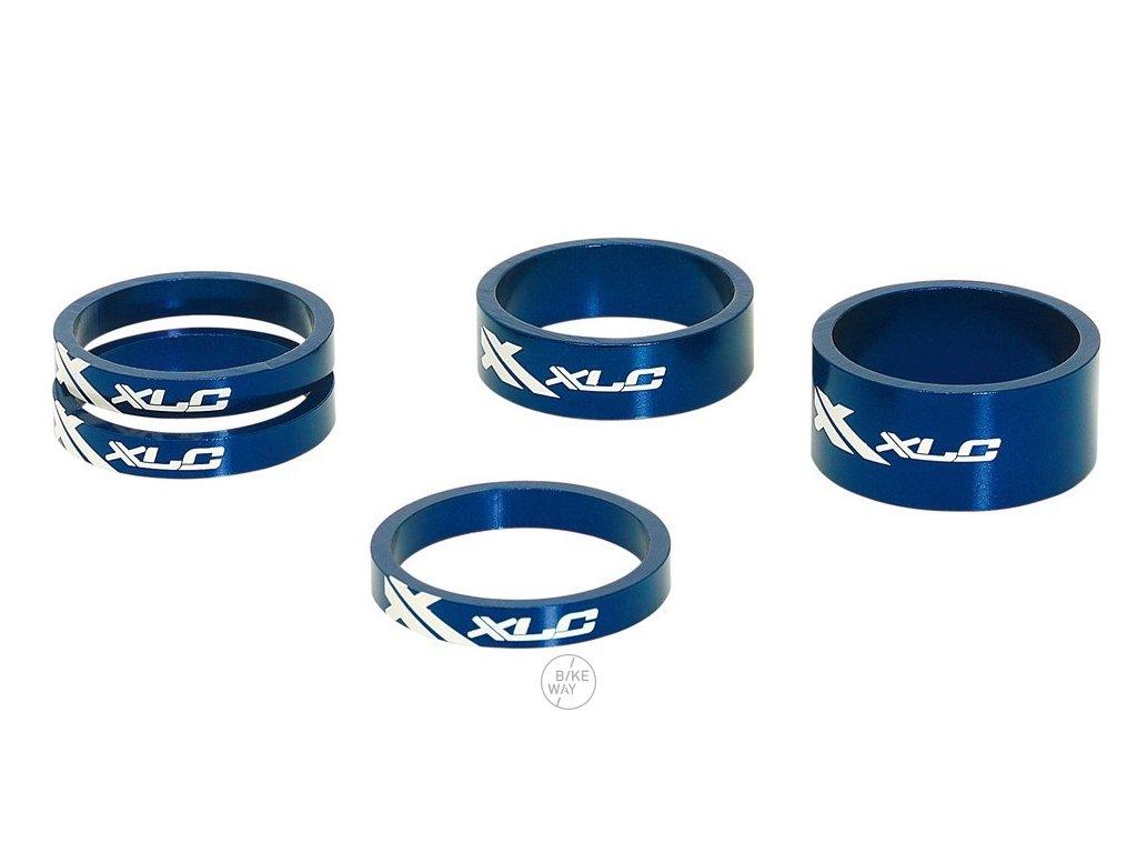 Sada A Head podložek XLC AS A02 3 x 5, 1 x 10, 1 x 15, 1 1 8 modrá