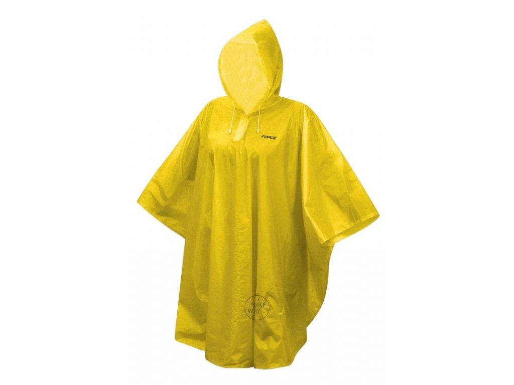 Poncho FORCE dětské nepromokavé, žluté XS M
