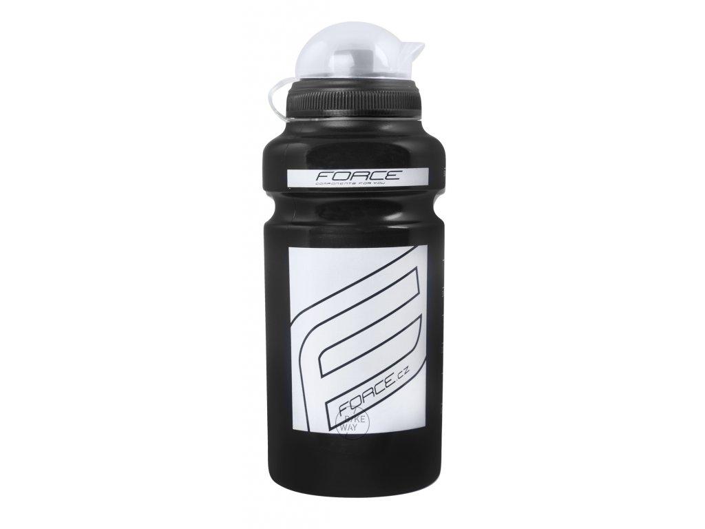 Láhev FORCE F černá bílý potisk 0,5 l